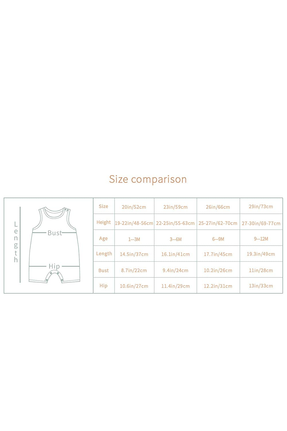 LOV ANNY Infant Toddler Baby Boys Girls Romper Sleeveless Outfit Clothes