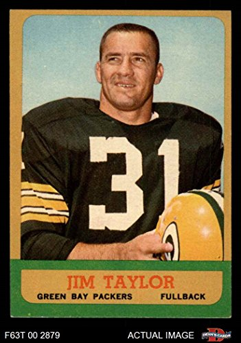 1963 Topps # 87 Jim Taylor Green Bay Packers (Football Card) Dean's Cards 6 - EX/MT (Jim Taylor Packers)