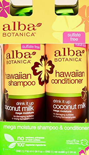 (Alba Botanica Hawaiian Coconut Milk Shampoo & Conditioner, 24 FL OZ)