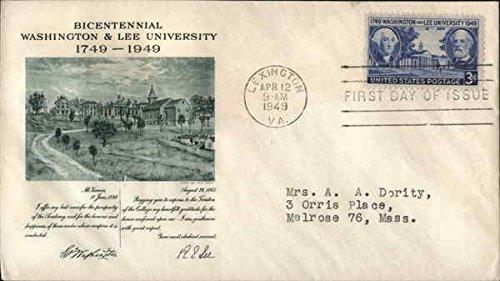 Bicentennial Washington & Lee University 1749-1949 Original First Day Cover