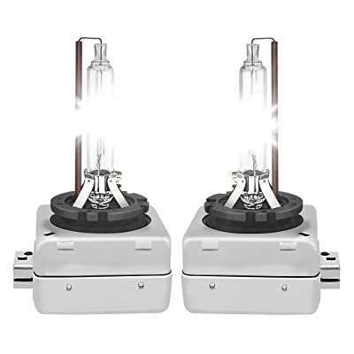 D1S D1C HID Xenon Headlight Replacement Bulbs 12V 35W Super Bright Headlamp for Automotive High Low Beam Carllight88 1 Pair (6000K Pure White): Automotive