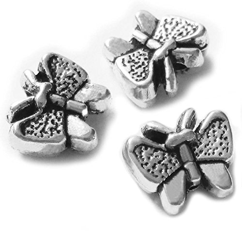 - Heather's cf 43 Pieces Silver Tone Butterfly Flat Beads Findings Jewelry Making 11X10mm