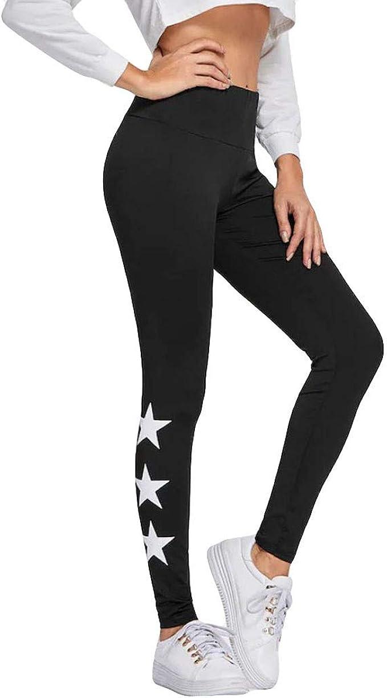 Yoga Pants for Women CJing Leggings,Ladies Star Printing Aerobic Slim Sports Running Yoga Pants