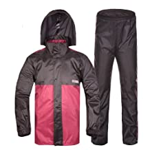 Fashion Professional Waterproof Color Matching Stitching Design Outdoor Rain Coat and Rain Pants Suit