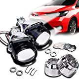 Zento Deals 2 Pieces of Mini H1 HID Bi-Xenon Projector Lens for H1 Bulb Model- Clear Bright High and Low Bim Light with Aluminum Housing for All Weather offers