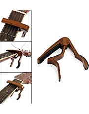 Guitar Capo Quick Change Acoustic Guitar Accessories Guitar Picks Trigger Capo Key Clamp Rosewood