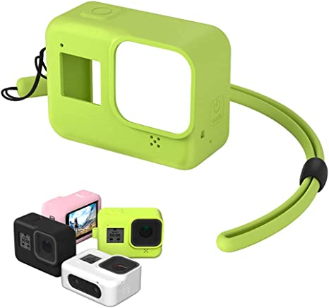 For Gopro Hero 8 Camera Silicone Protective Case Scratchproof Cover with Lanyard