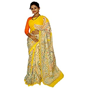 Kheyali Boutique Cotton Madhubani Print Multicolor Saree For Women's