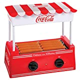 Nostalgia HDR8CK Coca-Cola Roller Warmer 8 Hot Dog and 6 Bun Capacity