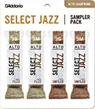 D'Addario Woodwinds DSJ-J3S Select Jazz Alto Saxophone Reed Sampler Packs, 3S/3M