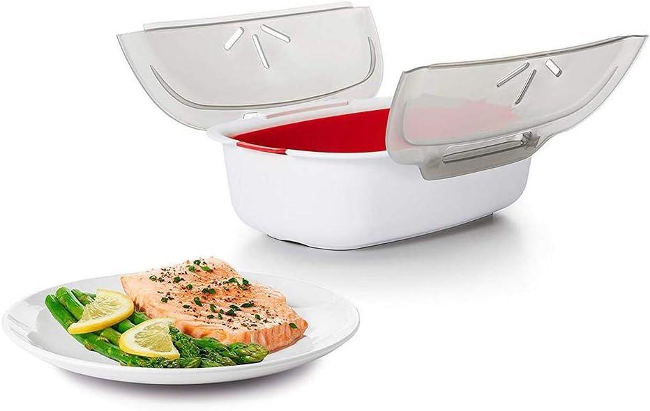 Kitabetty Vaporera de Utensilios de Cocina para microondas, vitrocerámica Vaporera de Utensilios de Cocina para Peces: Amazon.es: Hogar