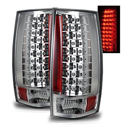 SPPC Chrome LED Tail Lights G4 For Chevy Tahoe / Suburban / Yukon - Passenger and Driver Side