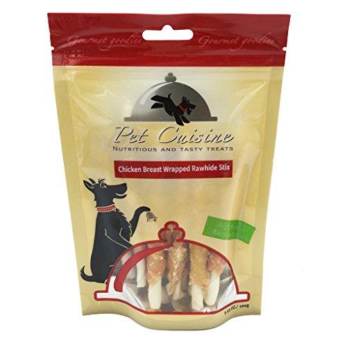 Pet-Cuisine-Dog-Treats-Puppy-Chews-Training-SnacksChicken-Breast-Wrapped-Rawhide-Stix