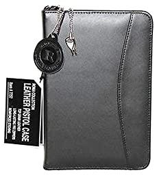 Black Leather Concealed Carry Locking Organizer Roma 7757