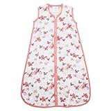 Aden by Aden + Anais Classic Sleeping Bag, 100% Cotton Muslin, Wearable Baby Blanket, Medium, 6-12 Months, Butterflies - Aflutter…
