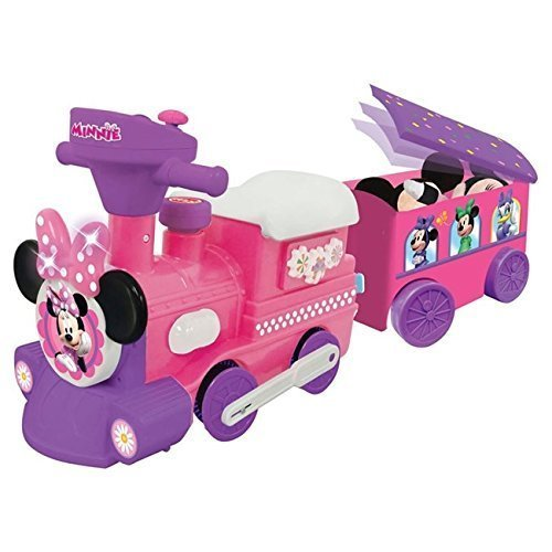 Loading Platform - Disney Minnie Mouse electric foot rowing riding toy train with a loading platform [parallel import goods]