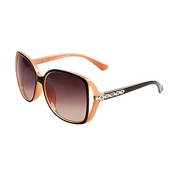 WYYY lunettes de soleil Goggle Lunettes De Conduite Mlle Visage Rond Grande Bordure Classique Rétro Lumière Polarisée Protection Contre Le Soleil Anti-UVA Protection UV 100% (Couleur : Noir) 8dWFByurl