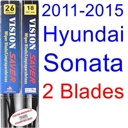 Wholesale 2011-2015 Hyundai Sonata Replacement Wiper Blade Set/Kit (Set of 2 Blades) (Saver Automotive Products-Vision Saver) (2012,2013,2014) for cheap