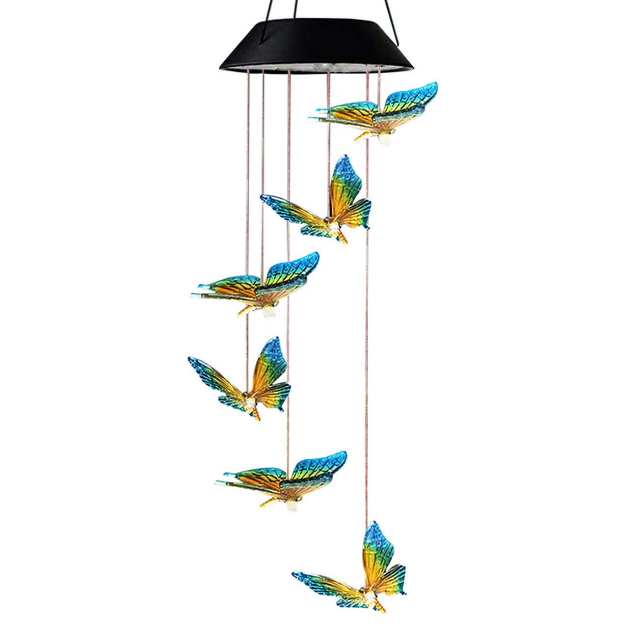 Solar Butterfly Wind Chimes for Outside