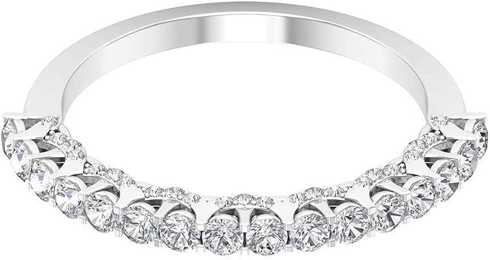 Anillo de diamante certificado SGL de 0,64 ct, anillo clásico de aniversario de boda, anillo de promesa de diamante antiguo, 18K Oro
