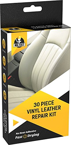 - 30pc Set Leather & Vinyl Repair Kit [Restore Any Material] Scratch Restoration - Best for Couch, Car Seats, Sofa, Jacket, Purse, Boots, Crack, Patch, Recoloring - Tear of Upholstery, Shoe, Furniture