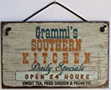 Signs are made of tempered hardboard and have a vintage faux finished background which creates the illusion of an aged vintage sign. It is well made and displays beautifully. Some signs have a modern look as well.