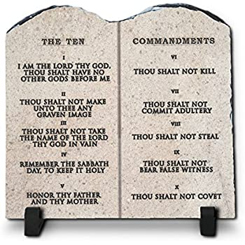 Amazon.com: InspiraGifts The Ten Commandments Religious ...