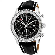 BREITLING MEN'S NAVITIMER 45MM LEATHER BAND AUTOMATIC WATCH A2432212-B726LD