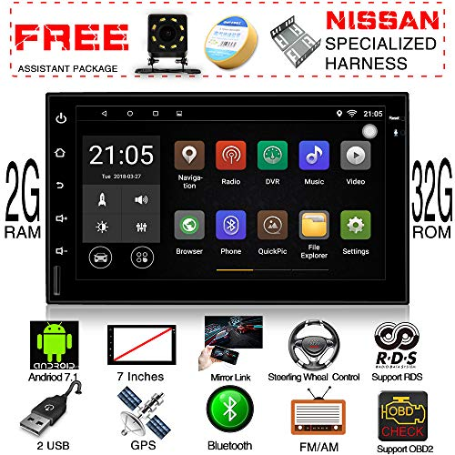 Audio Files M4a (2G Ram 32G Rom Android 7.1 Quad Core CPU In Dash 7 Inch Touch Screen Double Din Car Stereo GPS Navigation Bluetooth Headunit WIFI Car Radio Audio System + Free Real Camera + Nissan Specialized Harness)