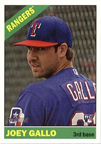 (Joey Gallo baseball card (Texas Rangers) 2015 Topps Heritage Rookie #647)