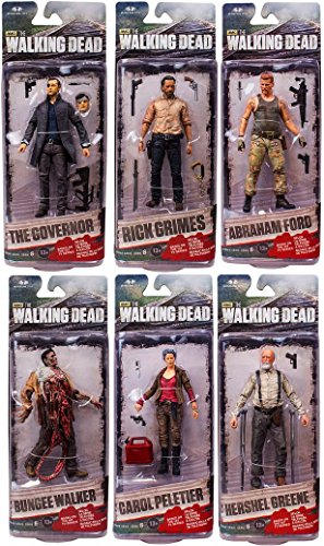 "McFarlane Toys The Walking Dead AMC TV Series The Walking Dead TV Series 6 Set of 6 6"" Action Figures"