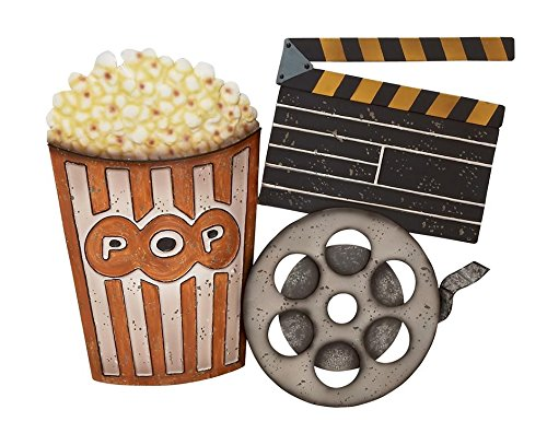 "Deco 79 53270 Metal Movie Wall Decor, 28"" W x 22"" H from Deco 79"