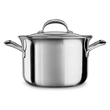 Kitchenaid kc2 C80scst Olla, Acero Inoxidable, 24 x 24 x 7 cm, Plata ...