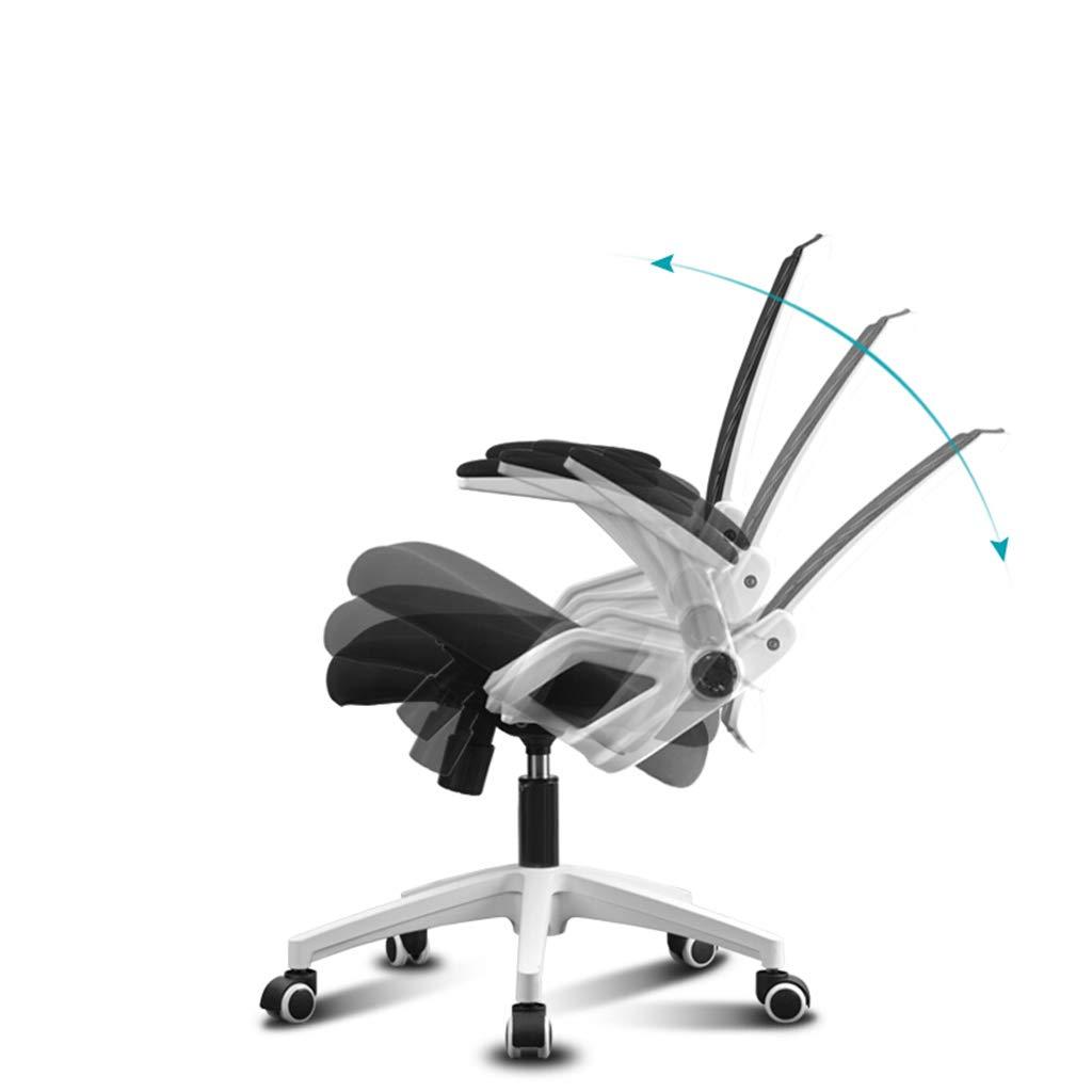 Kontorsstol datorstol svartvit kontorsstol konferensstol hem roterande säte två färger E-sportstol stol (färg: A) a