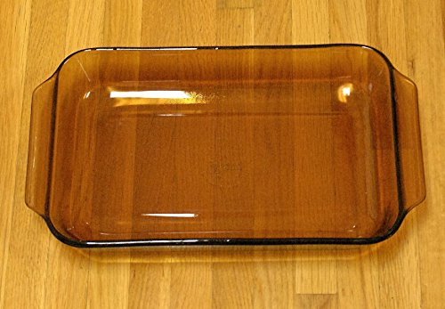 Vintage Anchor Hocking Fire-King (1.5 qt) Amber Brown Brownie Casserole Baking Dish (#1441)