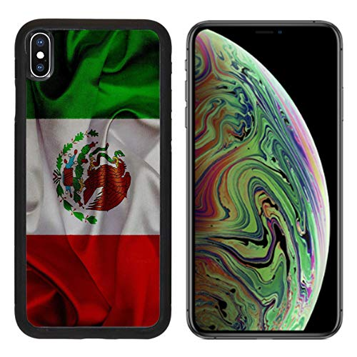 - MSD Apple iPhone Xs MAX Case Aluminum Backplate Bumper Snap Case Image 19036569 Mexico Grunge Waving Flag