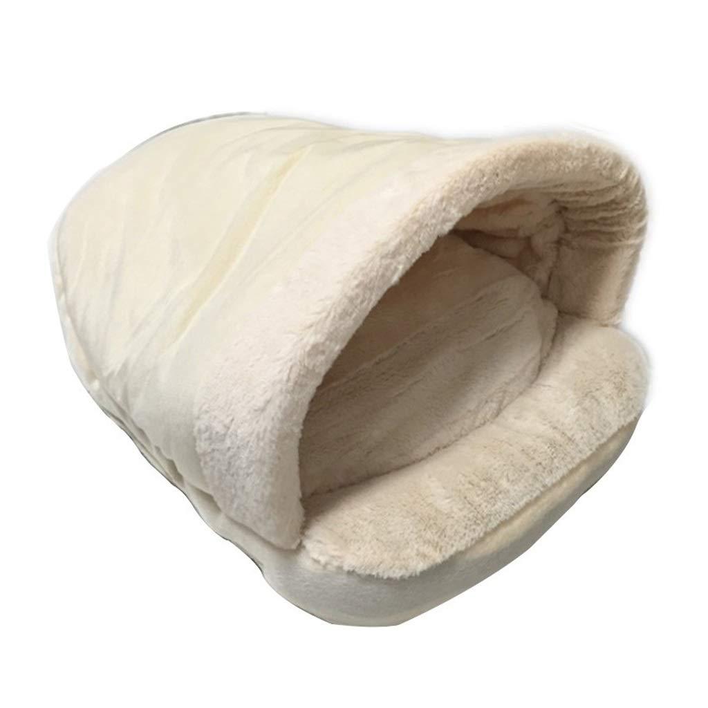 1pcs Cute Fluffy Pet Nest, Short Fluff PP Cotton Soft Cat Litter No Need to Add A Cushion Pet Nest Small Pet Nest,White (Size   1pcs)