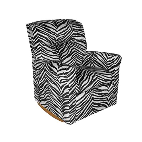 Child Rocker Recliner - Contemporary Zebra DZD12067 by Dozydotes