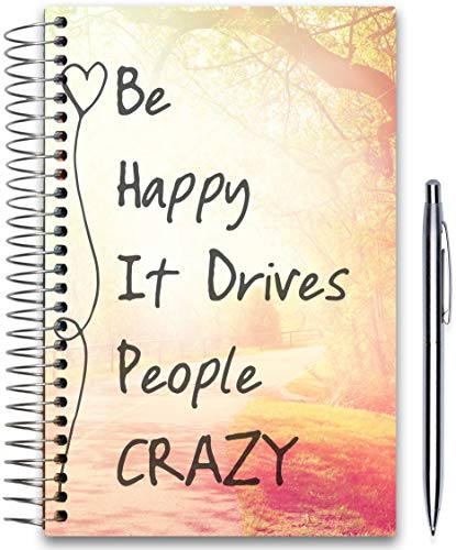 (April 2019-2020 Planner 5x8 - Hardcover - Daily Weekly Monthly - Academic Planner Year - Be Happy Planner Cover by)