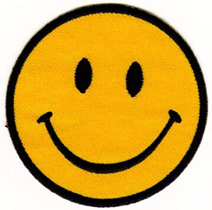 Smiley Face Emo Retro Kids Children Sew Iron On Embroidered Patch #1042