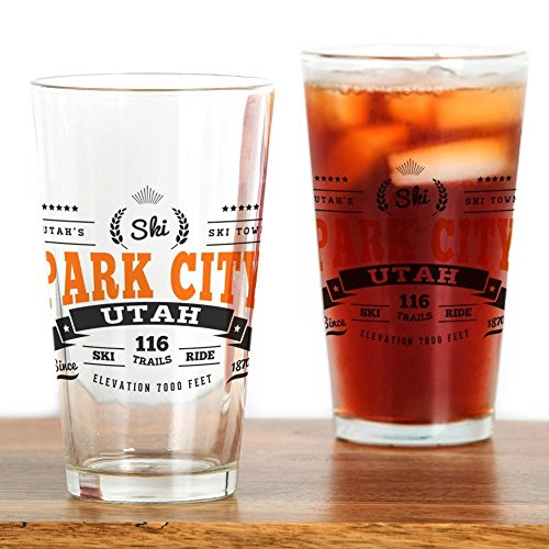 CafePress Park City Vintage Pint Glass, 16 oz.