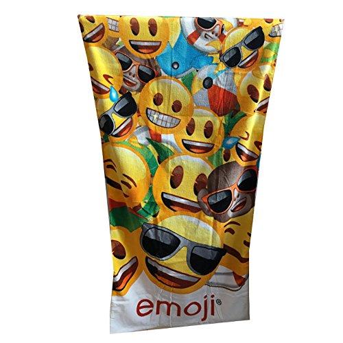 Textil Tarrag/ó 30/x 40/x 3/cm Serviette de Plage Emoji Coton Multicolore