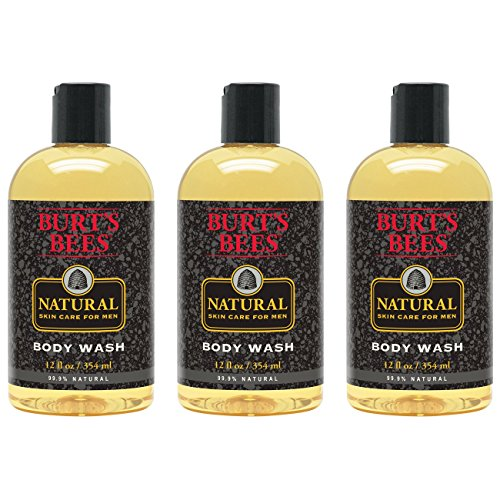 Burt's Bees Natural Skin Care for Men Body Wash, 12 Ounces, Pack of 3