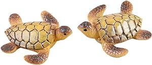 EASYG 3pcs Sea Turtle Mushroom Mini Miniature Figurine Fairy Garden Dollhouse Decor Micro Landscape
