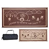 Stylish Camping RH8187 Brown/Beige 8 Feet x18 Feet RV Home Mat