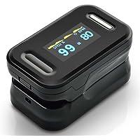 Función de alarma Oxímetro Oxímetro de pulso de dedo Médico Portátil Pulso de dedo Sangre Monitor de oxígeno Saturación de oxígeno Medidor de presión arterial de dedo Lecciones rápidas Nivel de saturación de oxígeno Medidor Spo2 Monitor de ritmo cardíaco Monitor OLED en 4 direcciones