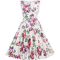 GRACE KARIN Women's 50s Vintage Swing Floral Print BP0002 Dress (Multi-Colored)