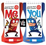 me vs you head to head pencil games challenge klutz