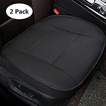 Without Backrest 1 Pack Front Seat Cover HONCENMAX Luxury Car seat Cover Cushion Pad Mat Protector for Auto Supplies for Sedan Hatchback SUV PU leather