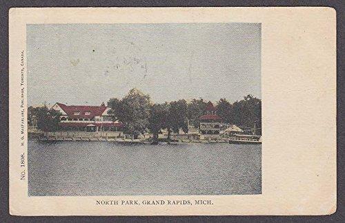 Grand Rapids Park - North Park Grand Rapids MI undivided back postcard 1905